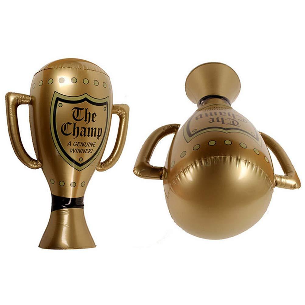 Toyvian Copa de Trofeo Inflable Grande Copa campeona de Oro 60 CM ...