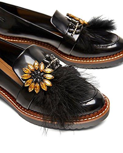 Zara - Mocasines de Material Sintético Mujer, negro (negro), 37: Amazon.es: Zapatos y complementos