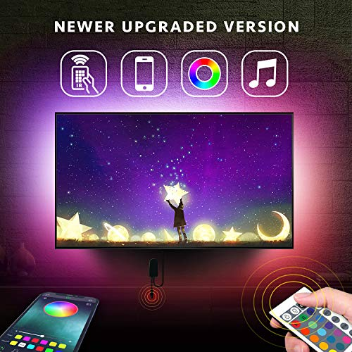 Nexillumi LED Strip Lights with Remote, APP Control TV LED Backlight RGB LED Strip USB Powered for 24 Inch-60 Inch TV,Mirror,PC, Sync to Music, Bias Lighting, 5050 RGB for Android iOS (Best Pc Remote Control App)