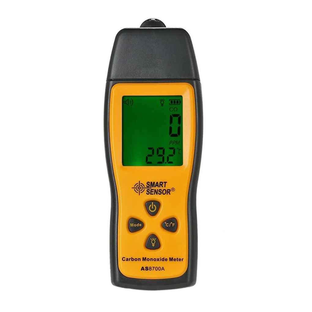 SMART SENSOR AS8700A poche de monoxyde de carbone compteur digital de haute précision CO Détecteur de fuites Analyseur Gamme 1000ppm Republe