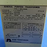 Hubbell Acme Electric T253007S Low Voltage Distribution Transformer, Single Phase, 240 x 480 Primary Volts - 120/240 Secondary Volts, 0.25 kVA