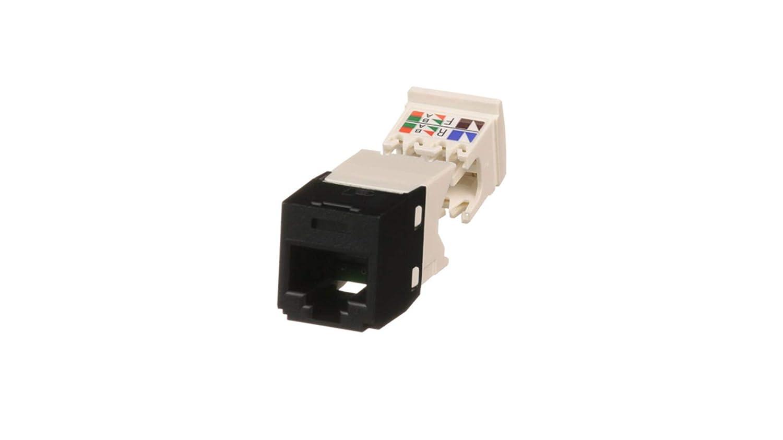 Black CJ688TGBL Panduit Mini-Com TX6 Plus Giga-Channel Cat6 Jack
