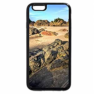 iPhone 6S / iPhone 6 Case (Black) rocks on a beach in japan