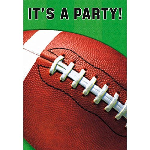 Amscan Football Fan Folded Party Invitations , 8ct]()