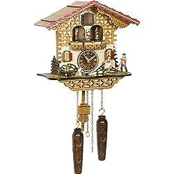 Trenkle Uhren Quartz Cuckoo Clock Swiss house with music, turning dancers TU 4223 QMT HZZG