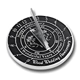 Looking For The Best 5th Wood Wedding Anniversary Gift? This Unique Sundial Gift Idea Is A Great Present For Him, For Her Or For A Couple To Celebrate 5 Years Of Marriage