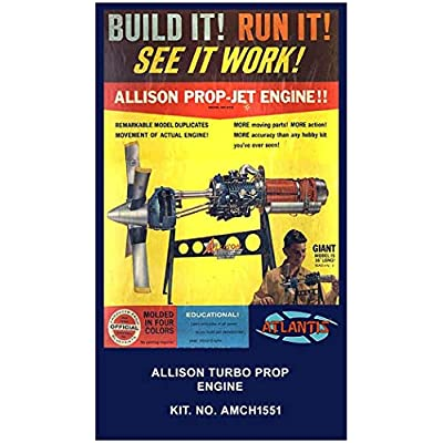Allison Prop Jet Aircraft Engine STEM Plastic Model Kit 1/10 Atlantis Toy and Hobby: Toys & Games