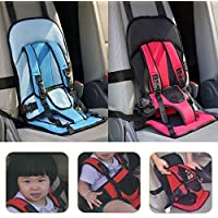 PETRICE Car Cushion Seat with Safety Belt for Small Kids & Babies (Multi Color, 1 Pack)