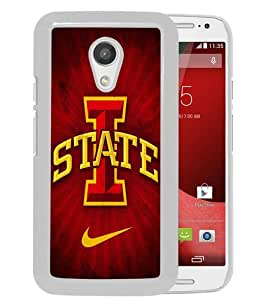 Fashionable And Unique Designed Case For Motorola Moto G 2nd Generation Phone Case With iowa state cyclones White