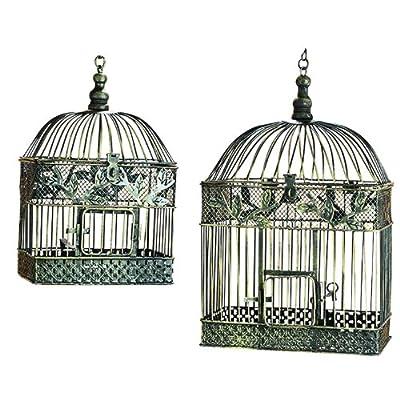 ORE International 88016 Metal Birdcages, Set of 2