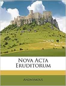 Nova Acta Eruditorum Italian Edition Anonymous