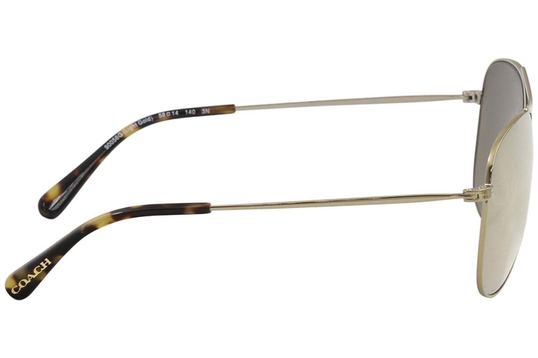 85cedd5df0b67 Amazon.com  Coach Womens Sunglasses Gold Gold Metal - Non-Polarized - 58mm   Clothing