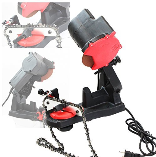 ELECTRIC GRINDER CHAIN SAW BENCH SHARPENER VISE MOUNT W/GRIND CHAINSAW WHEEL by I_S IMPORT
