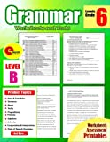 img - for Grammar 6th Grade: Grammar Workbook Grade 6 Worksheets and Tests NO PREP Printables for 5th, 6th Grade (Grammar Workbook Education) (Volume 6) book / textbook / text book