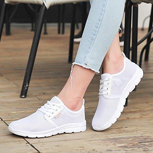 Mode Up Extérieure Maille zahuihuiM Lace Sport Plat Chaussures Blanc Femmes Automne Bottes Bqa7f