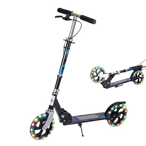 ZAQI Patinetes Niños/Adultos Scooter Plegable, 220 LB ...
