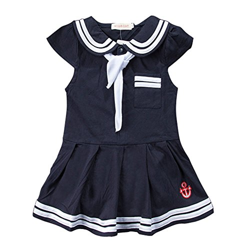 Dress Like A Celebrity Costume Party (Carrillos Girls Short Sleeve Sailor Dress Romper Outfit,Navy,12-18M,Tag:95)