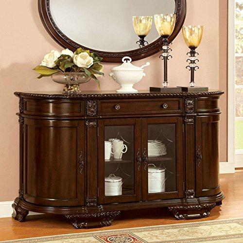 Bellagio English Style Brown Cherry Finish Buffet Server Cabinet