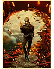 Japanse Anime Jujutsu Kaisen Poster Home Room Decor Hoge Kwaliteit Posters En Prints Kraftpapier Art Retro Muurstickers A95 50X70 Cm (Zonder Frame)