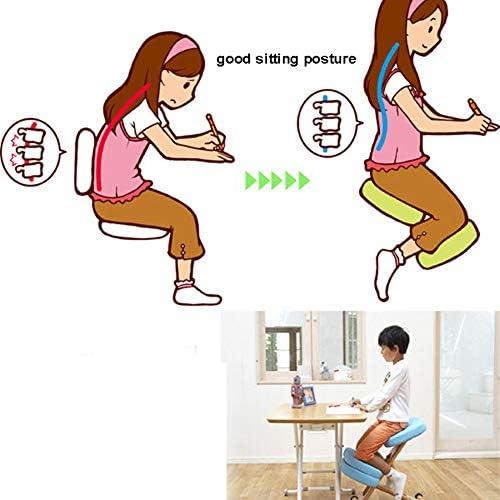 XIJING Chaise Ergonomique à Genoux/chaises de Genou en Bois relevables/siège de Posture orthopédique/Tabouret de Correction d'équilibrage, réduisent Les maux de Dos corporels