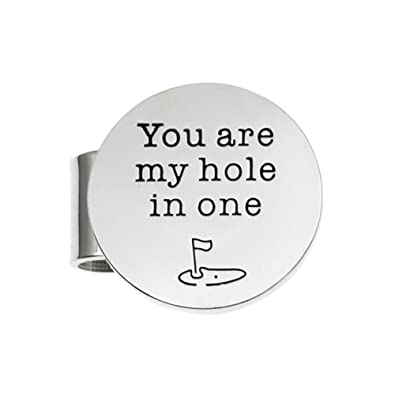 Amazon.com: Ms.Clover You Are My Hole In One Golf Ball Markers ...