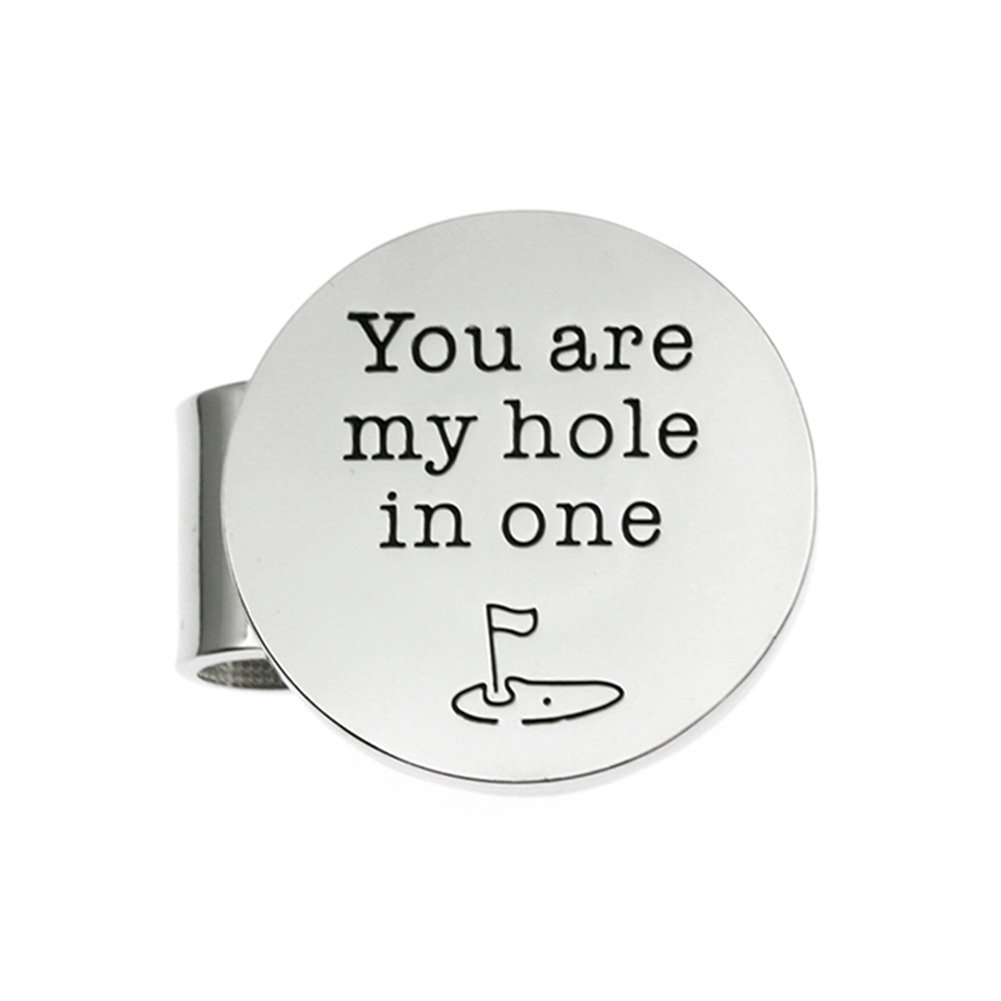 Ms.Clover You Are My Hole In One Golf Ball Markers, Christmas gift for Golfer Husband, Fathers Day Gifts, Valentine's Day Gift Boyfriend.