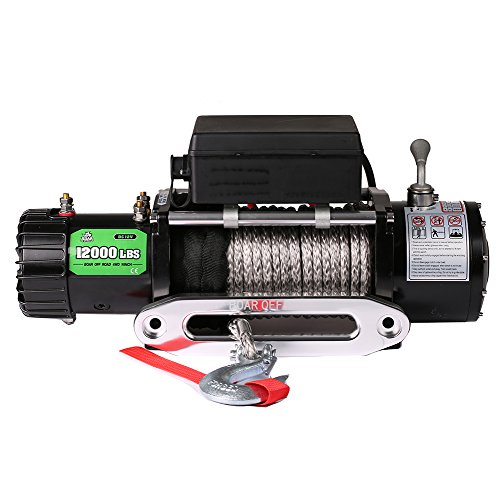 OFFROAD BOAR Synthetic Rope Waterproof Winch - 12000 lb. Load Capacity (Synthetic ()