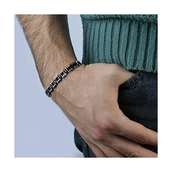 Morellato SKR25 Braccialetto Link ad Anello da Uomo, Acciaio Inossidabile, Argento 2