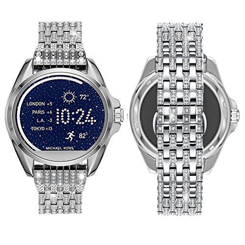 22MM Watch Band for MK Bradshaw Smartwatch,Crystal Rhinestone Diamond Jewelled Stainless Watch Band for Mk Bradshaw smartwatch,Fossil Q Marshal Gen 2,Gen 3 Q Explorist,Gear S3