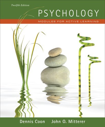 Psychology Modules for Active Learning by Coon, Dennis, Mitterer, John O. [Cengage,2011] (Paperback) 12th Edition
