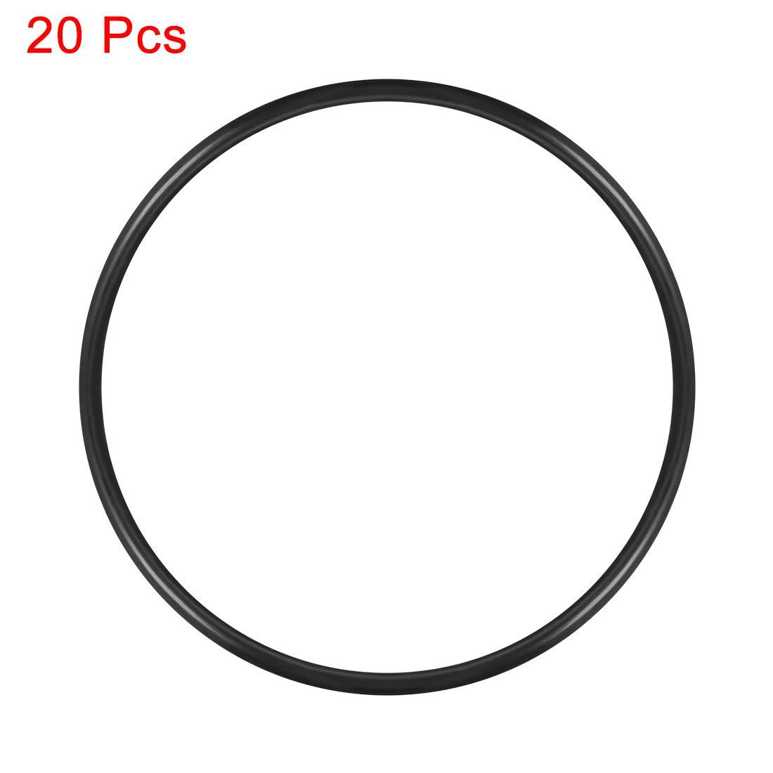 Sourcingmap junta de sellado de juntas t/óricas de goma de nitrilo 70.2 mm-130.2 mm de di/ámetro 80.2mmx85mmx2.4mm