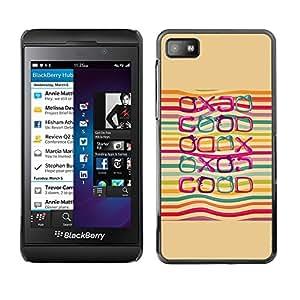 TopCaseStore / la caja del caucho duro de la cubierta de protección de la piel - Good Positive Quote Life Lgbt Rainbow - Blackberry Z10