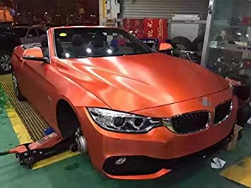 Kunfine Auto Styling Wrap Kalte Geburstete Orange Auto Vinyl Film