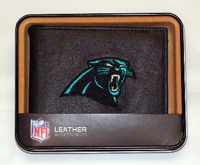 Rico Industries NFL Men's Carolina Panthers Embroidered Billfold Wallet