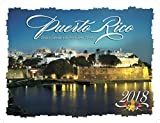 Puerto Rico Deluxe Wire-O Calendar 2018 - 12 x 9.5 (Including Puerto Rican Holidays) Monthly Square Wall Calendar, Scenic Travel Caribbean Islands (English and Spanish Edition)