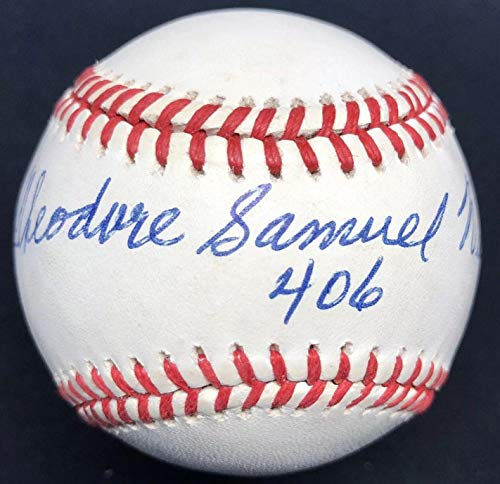 Ted Williams Signed Ball - Theodore Samuel Full Name 406 LOA - JSA Certified - Autographed Baseballs