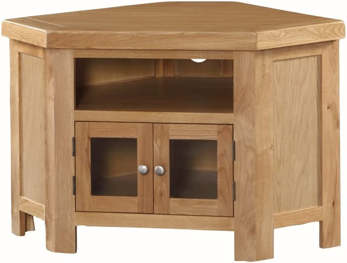 The One Newport – Mueble de Esquina para televisor de Roble Macizo rústico Roble de Esquina para televisor de Plasma – Acabado: Roble Claro – Muebles de salón: Amazon.es: Hogar