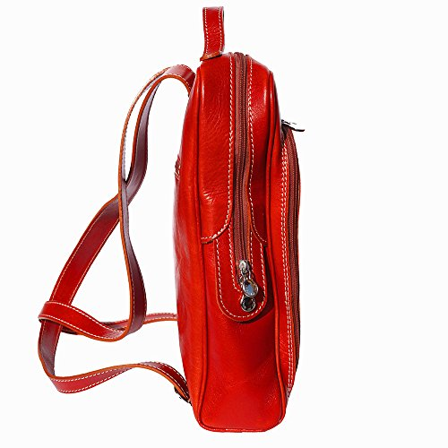 Backpack Red flat purse unisex 6538 7UwH7qr