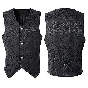 Nobility Baby Men's VTG Brocade Gothic Steampunk Tuxedo Vest Waistcoat