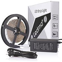 LEDMO Flexible LED Light Strip Kit, Super Bright 300 Uints SMD5630 LEDs,IP20 Non-Waterproof,Daylight White 6500K,16.4Ft/5M,LED Strip Light + 12V/5A Power Supply