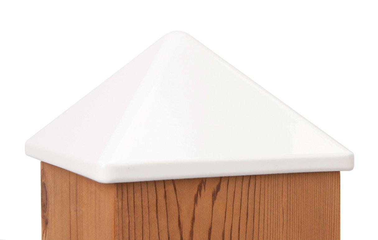 Quickcap Heavy Duty Aluminum Pyramid Post Cap 6x6 (5-1/2'' x 5-1/2'') White