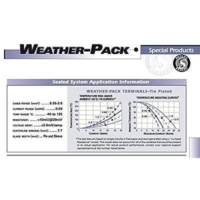 - Delphi Packard (4 Circuits,) Square Dual 2x2 Weatherpack, Waterproof, Terminal Kit 12 GA: Automotive