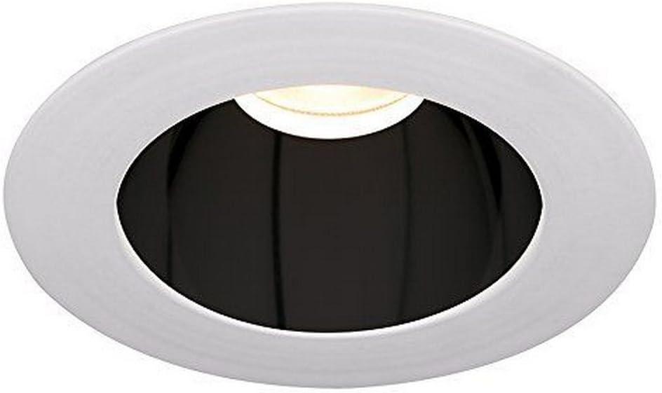 Warm Light WAC Lighting HR3LEDT118F27SB//WT Tesla LED 3-Inch Open Round Trim 2700K 50-Degree Beam Angle