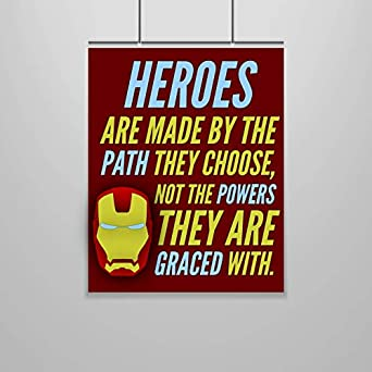 a44fdec5c8 Amazon.com: Iron Man Quote Poster – 16 x 20 – Motivational ...