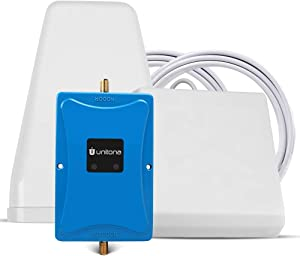 Cell Phone Signal Booster for Home Office Cottage   Supports T-Mobile,Verizon,AT&T,U.S.Cellular,MetroPCS,Straight Talk   Boost 4G LTE Data Speed onBand 12/13/17(700Mhz) with 2 high gain Antennas
