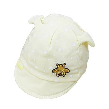 e94ef7c35 Amazon.com: Wcysin Baby Boy Baseball Cap Bee Sunhat Sun Protection ...