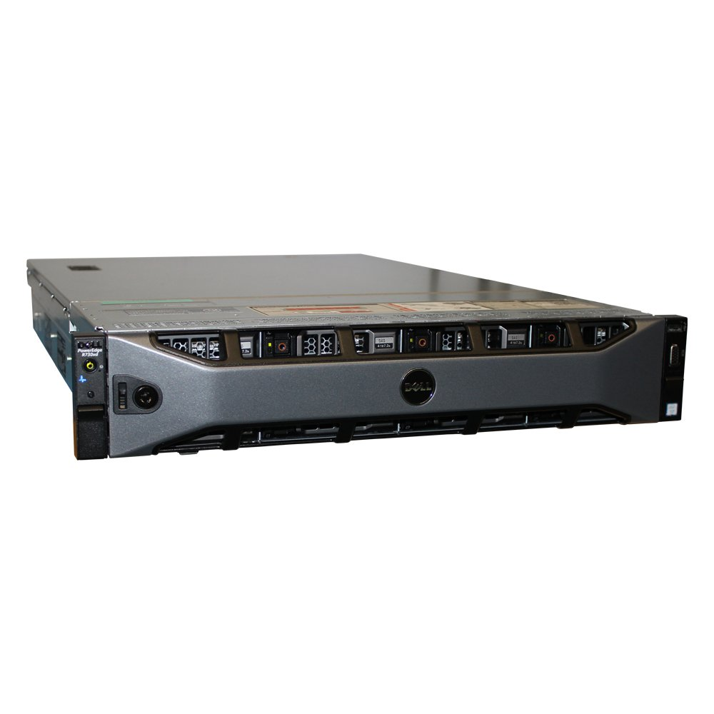 Dell PowerEdge R720xd 12-Bay LFF 2U Server, 2X E5-2650 V2 2.6GHz 8C, 48GB DDR3, 12x 3TB 7.2K SAS 6Gbps 3.5, PERC H710p, iDRAC 7 Express, 2X 750W PSUs, Rails (Renewed)