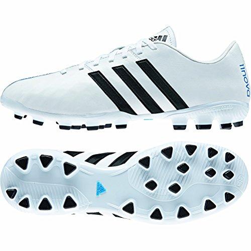 Adidas 11Nova AG - Zapatillas de fútbol para hombre blanco/negro