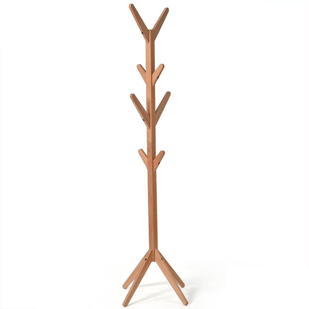 Solid wood coat rack,Floor simple tree shape hanger simple modern clothes shelf bedroom living room hanger-A by LANGMANZHUYI (Image #1)