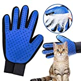 Pet Grooming Glove Cat Brush-Efficient Pet Hair Remover,Gentle Deshedding Brush,Pet Glove Brush Enhanced Five Finger Design Perfect for Dogs and Cats with Long & Short Fur (Right Glove)